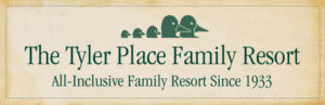 Tyler Place logo, green ducks and type