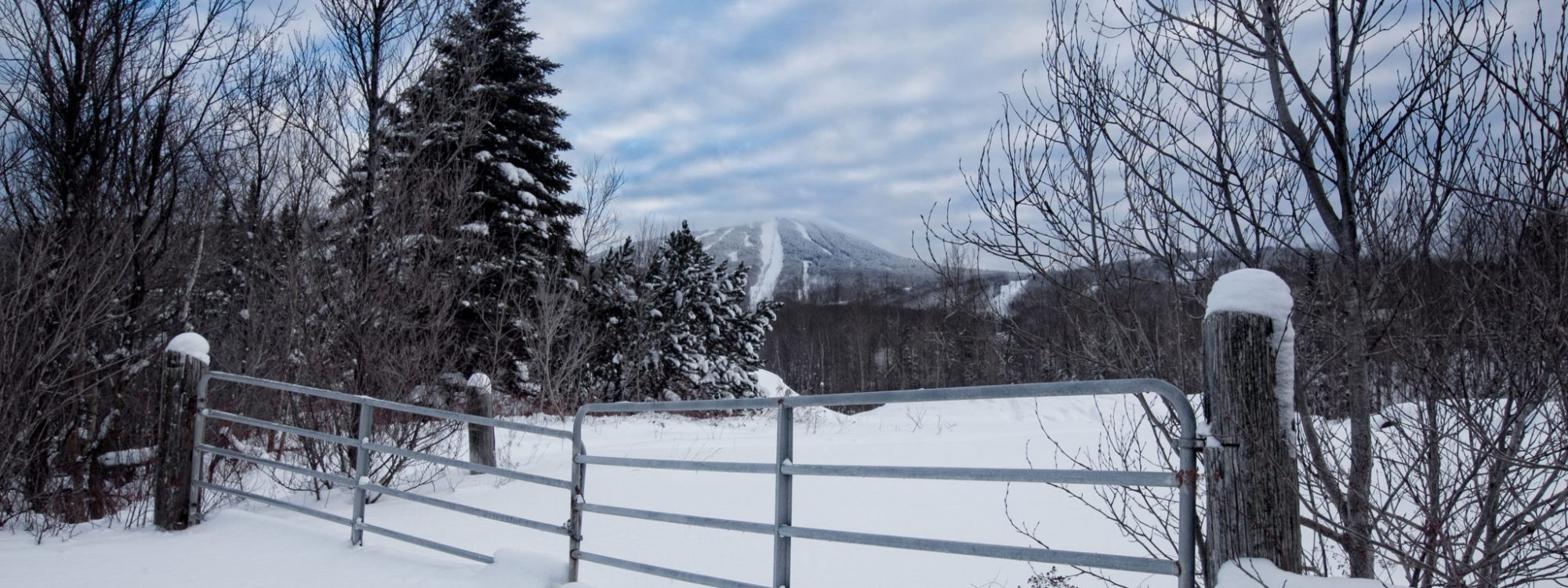 Killington Mountain with snowy slopes